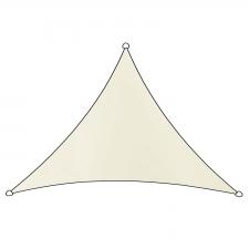 Schaduwdoek Como polyester driehoek 3x2,5m (wit)
