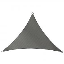 Schaduwdoek Como polyester driehoek 3x2,5m (antraciet)