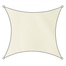 Schaduwdoek Como polyester vierkant 3,6m (off white)