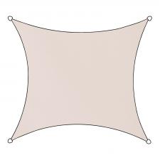 Schaduwdoek Livigno polyester vierkant 5m (naturel)