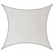 Schaduwdoek Iseo HDPE vierkant 3,6m (wit)