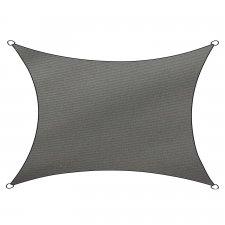 Schaduwdoek Como polyester rechthoek 3x4m (antraciet)