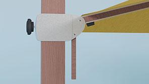 Glatz Aura vrijhangende parasol schuif